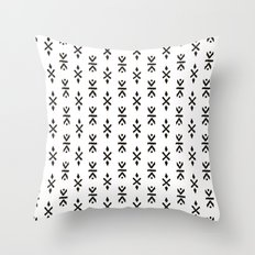 Black and white indian boho summer ethnic arrows Throw Pillow