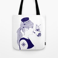 nautical Tote Bags featuring Nautical by Nathalie Otter