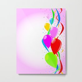 Pink Party Background Metal Print