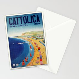 Cattolica 1920s Italy travel Stationery Cards