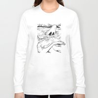 breathe Long Sleeve T-shirts featuring Breathe by MrCapdevila / Bingo