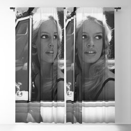 Brigitte Bardot in Barcelona black and white photography / photographs Blackout Curtain
