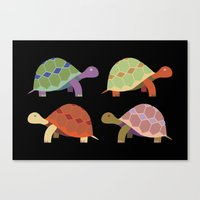turtles Canvas Prints featuring Turtles by TypicalArtGuy
