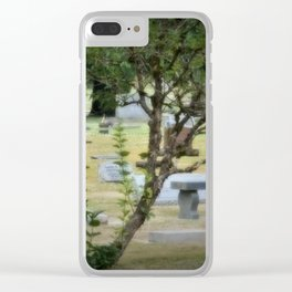 Beauty Of A Cemetery Clear iPhone Case