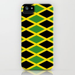 Flag of Jamaica 3-Jamaican,Bob Marley,Reggae,rastafari,cannabis,ganja,america,south america,ragga iPhone Case