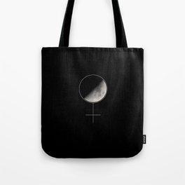 Moon and Woman Symbol Tote Bag