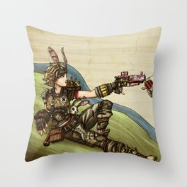 The Creation of Mayhem - Borderlands Throw Pillow