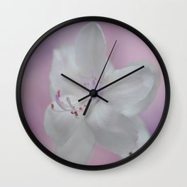 Purity in White Wall Clock