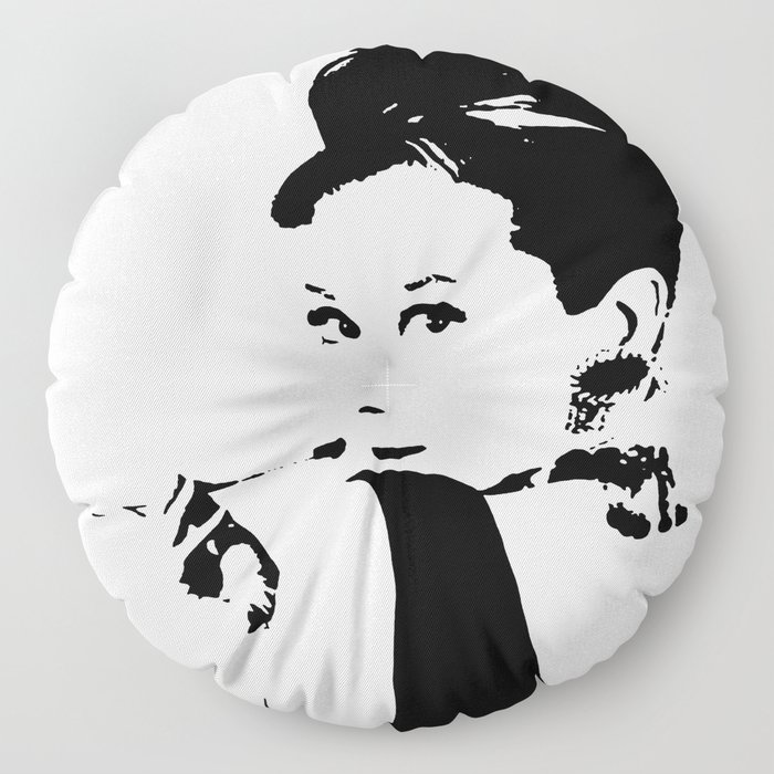 Audrey Hepburn Floor Pillow