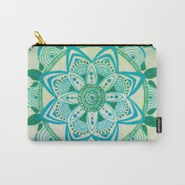 Simpe Blue/Green Mandala Carry-All Pouch