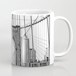 Brooklyn Bridge NYC [Black & White] Poster Print Coffee Mug