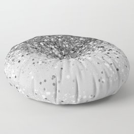 Soft Silver Gray Glitter #1 (Faux Glitter - Photography) #shiny #decor #art #society6 Floor Pillow
