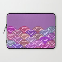seigaiha wave lilac purple pink colors abstract scales Laptop Sleeve