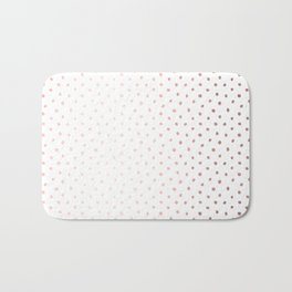 Cool Rose Gold Polka Dots Bath Mat