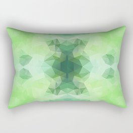 """Fresh greenery"" triangles design Rectangular Pillow"