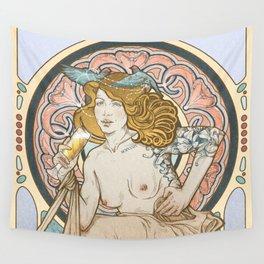 Mucha modern stylization Wall Tapestry