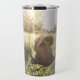 Baby Elephant on Swing Travel Mug