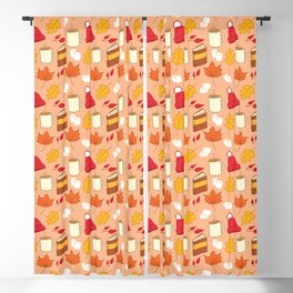 Autumn elements Blackout Curtain