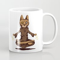 jedi Mugs featuring Jedi cat by Toms Tomsons
