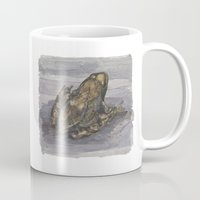 frog Mugs featuring frog by v0ff