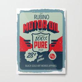 Rubino Motor Oil 2 Metal Print
