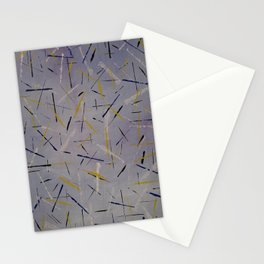 Yellow Purple Stationery Cards
