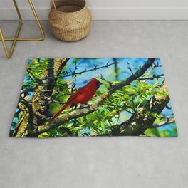 Red Cardinal Rug