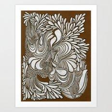 White Pattern Art Print