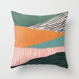 Modern irregular Stripes 02 Throw Pillow