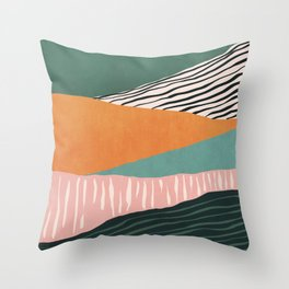 Modern irregular Stripes 02 Throw Pillow