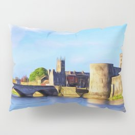 King Johns Castle and Thomond Bridge Pillow Sham