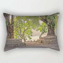 Tropical Hardwood Trees in Pokhara, Phewa Lake, Nepal Rectangular Pillow