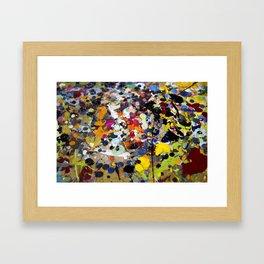 Palette. In the original sense of the word. Framed Art Print