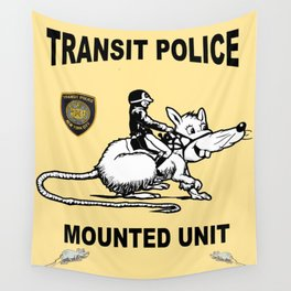 NYPD Transit Mounted Wall Tapestry