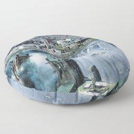Earth Falls Away Floor Pillow