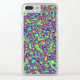 Rainbow Vomit Clear iPhone Case