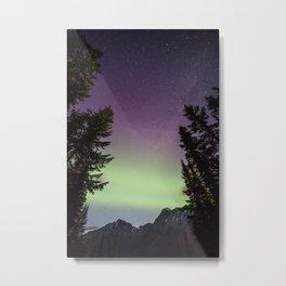 Northern Lights Yoho Metal Print