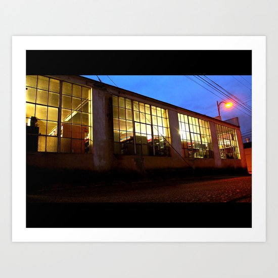 Windows at night Art Print