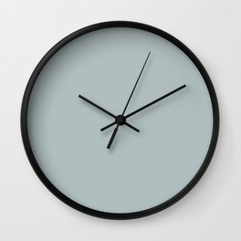 Best Seller Pastel Blue Grey Solid Color Pairs To Behr Watery Gray HDC-CT-26 Trending Color 2019 Wall Clock