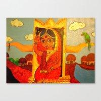 bride Canvas Prints featuring Bride by Sreetama Ray