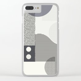 Memphis Clear iPhone Case