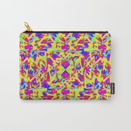 Multicolored Linear Pattern Design Carry-All Pouch