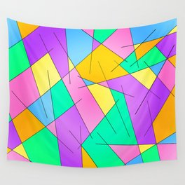ABSTRACT LINES #1 (Multicolored Vivid) Wall Tapestry