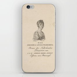 Frederica Louisa Wilhelmina (prinses van Oranje-Nassau), Willem van Senus, 1790 - 1851 iPhone Skin