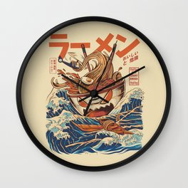 Great Ramen off Kanagawa Wall Clock