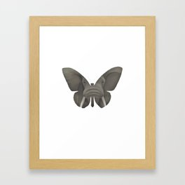 Elephant Butterfly Framed Art Print