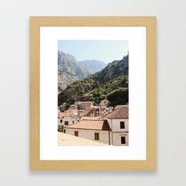 Morning in Montenegro Framed Art Print
