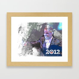 Obama 2012 Framed Art Print