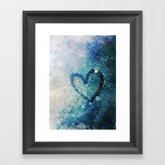 Icy Heart Framed Art Print