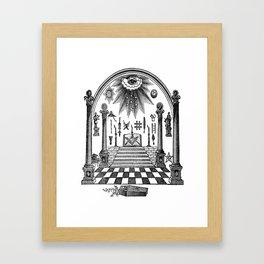 The Pillars Framed Art Print